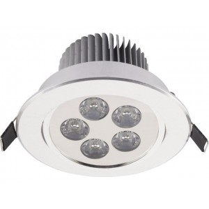 NOWODVORSKI DOWNLIGHT LED 5 SILVER 6822
