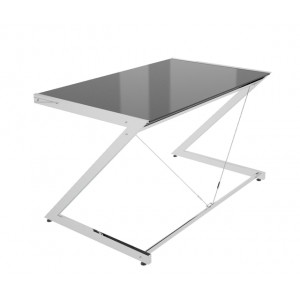Z-Line Chrom Computer Desk Black