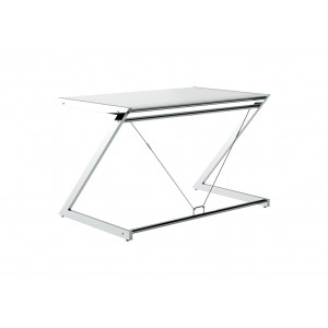 Z-Line Chrom Computer Desk white