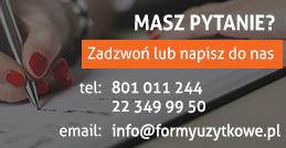 Skontaktuj się z FormyUżytkowe.pl