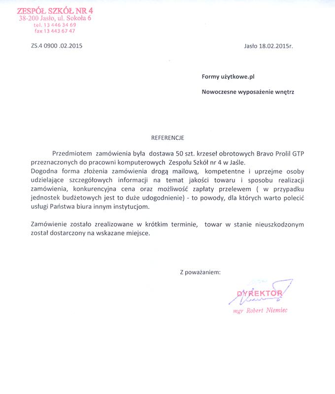 Referencje Szkoła Jasło